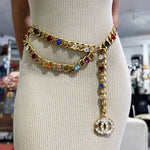 Chanel vintage jeweled chain belt