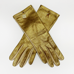 Christian Dior Gold Lock & Key Gloves