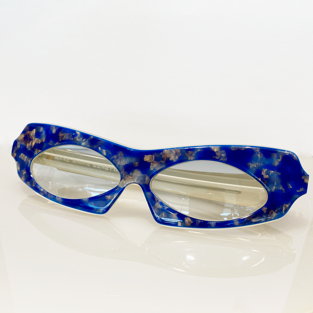 Anne Marie Beretta Iridescent Blue Sunglasses