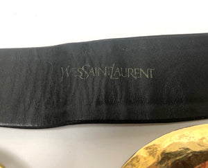 Yves Saint Laurent Vintage Gold Swirl Belt