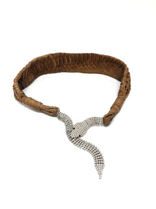 Python and Rhinestone Serpent Belt