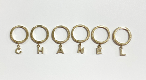 Chanel Letter Charm Ring Set