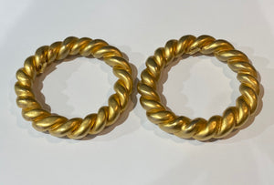 Chanel Vintage Gold Twisted Bangle