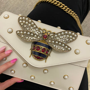 Gucci Broadway Bee Clutch