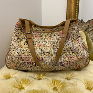 Fendi Floral Zucca Shoulder Bag