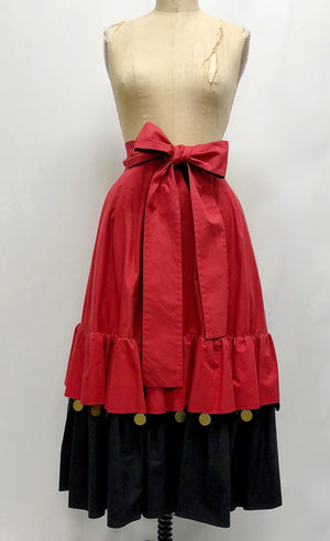 Yves Saint Laurent vintage coin trim skirt