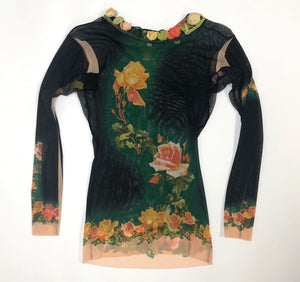 Jean Paul Gaultier Floral Top