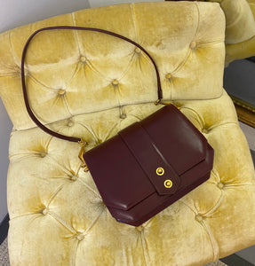 Hermès Vintage 70s Burgundy Shoulder Bag