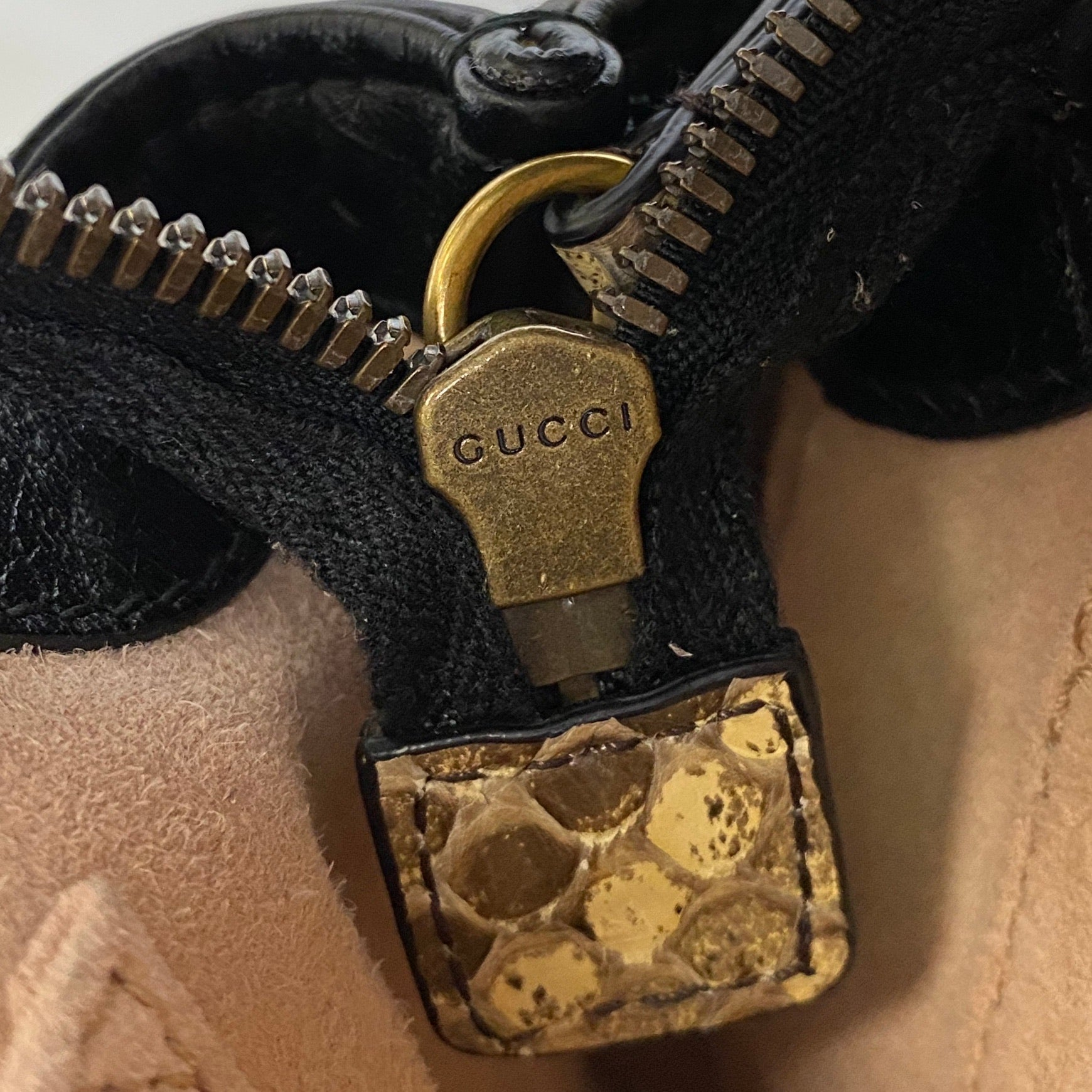 Gucci Small Python Re(Belle) Bag