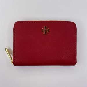 Tory Burch Red Compact Wallet