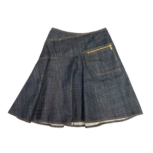 Alaïa Dark Denim Circle Skirt