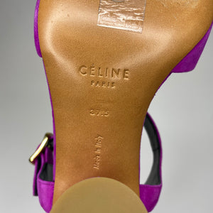 Céline Vibrant Purple Heeled Sandals