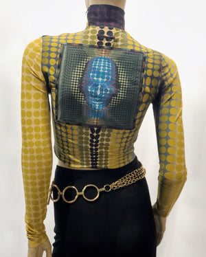 Jean Paul Gaultier Mad Max crop top
