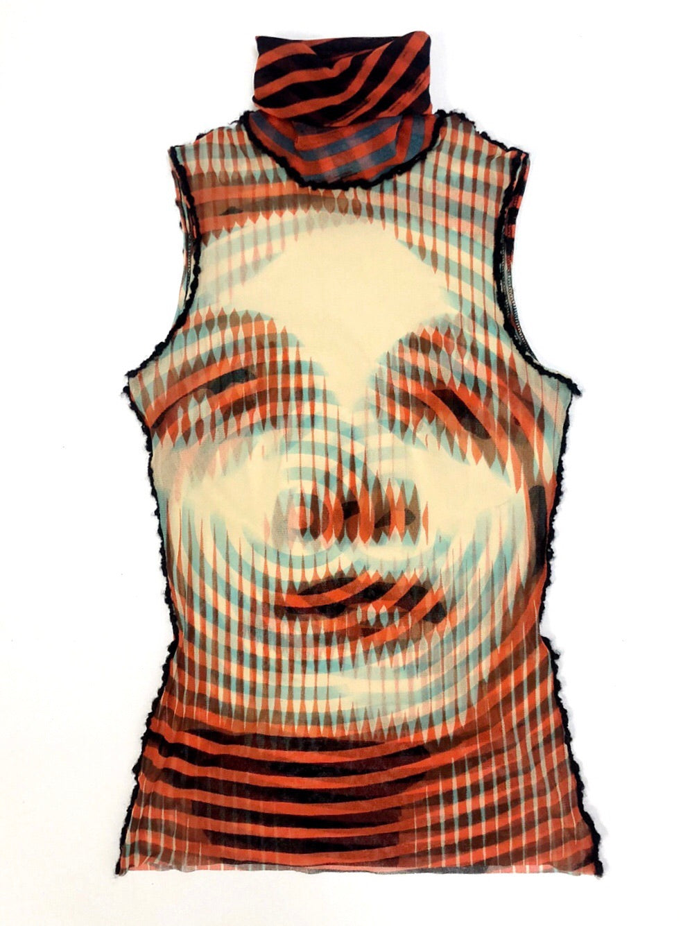 Jean Paul Gaultier Hypnotic Face Top