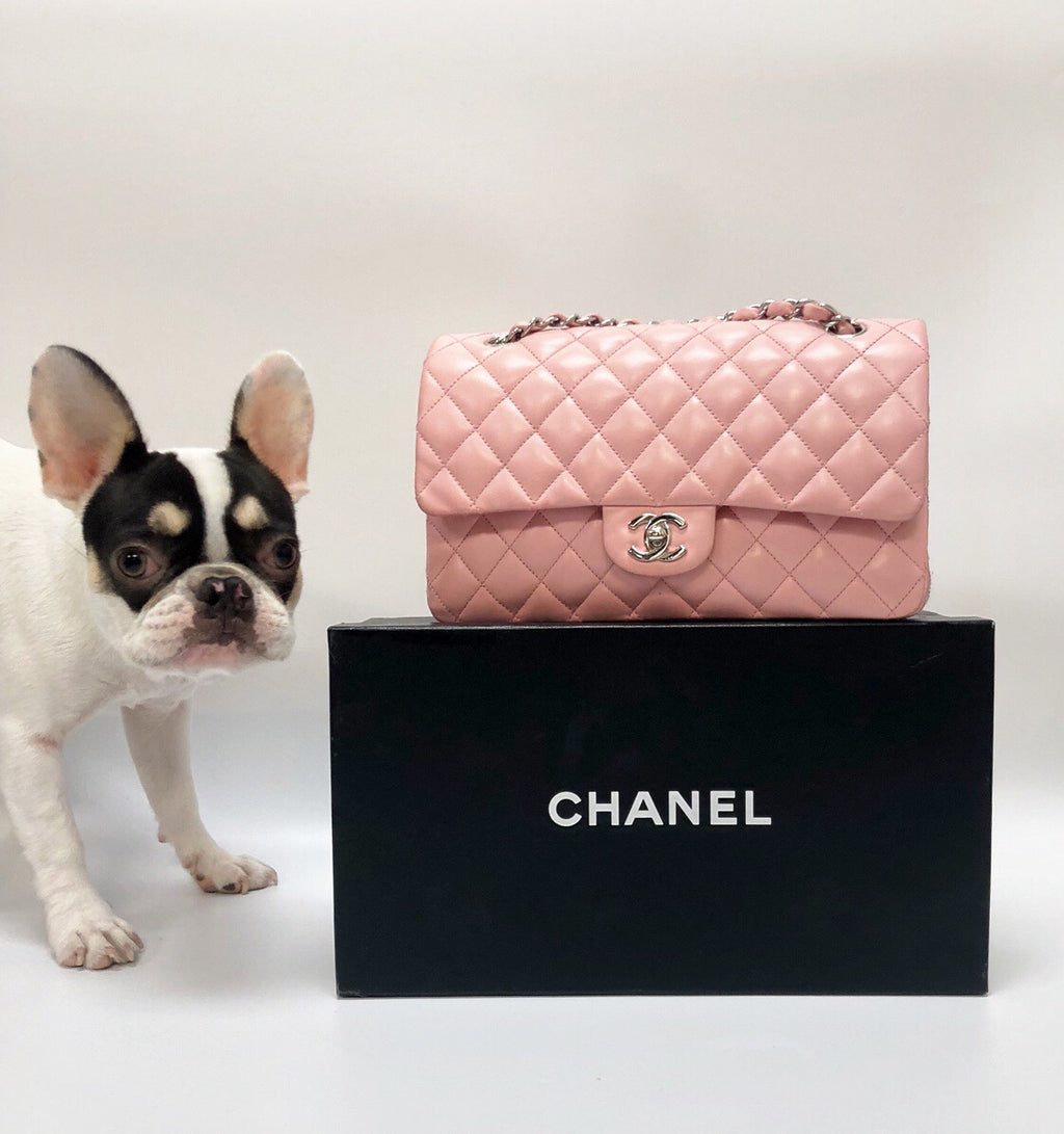 Chanel Pink Classic Medium Double Flap Bag