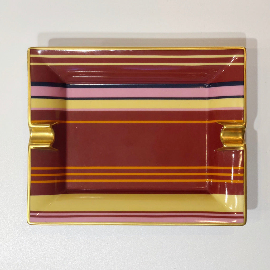 Hermès striped ashtray