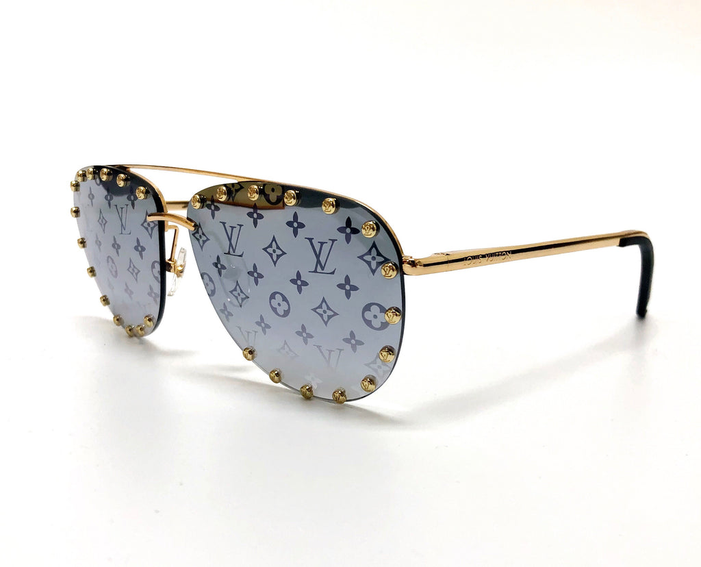 Louis Vuitton Reflective Monogram The Party Sunglasses