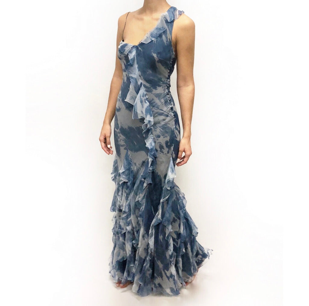 Christian Dior Blue Tie Dye Gown