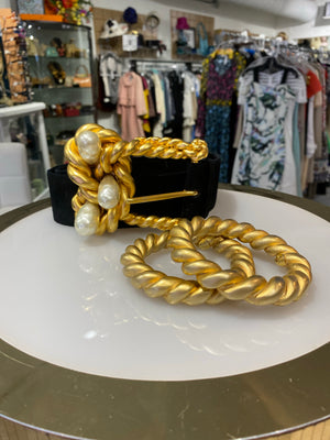 Chanel Vintage Runway Twisted Rope Belt