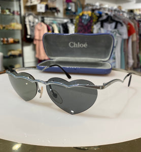 Chloe Silver Heart Sunglasses