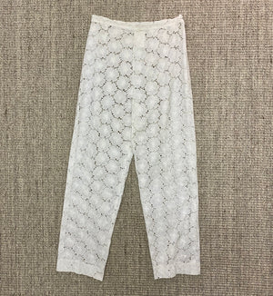 Chanel Vintage White Guipure Lace Pants