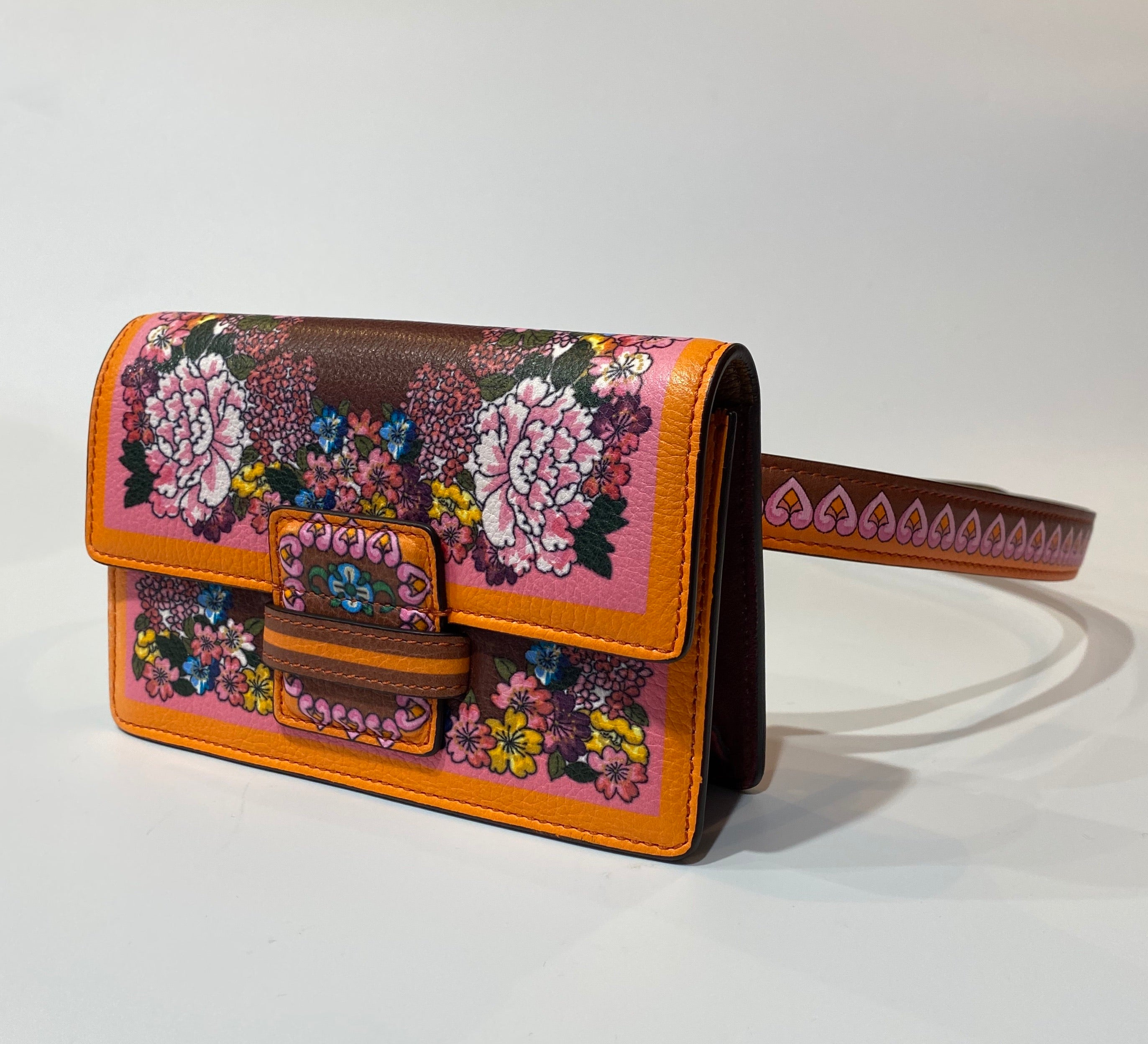 Etro Printed Leather Belt Bag