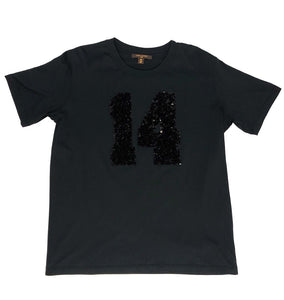 Louis Vuitton Paris 14 Black Sequin T-Shirt