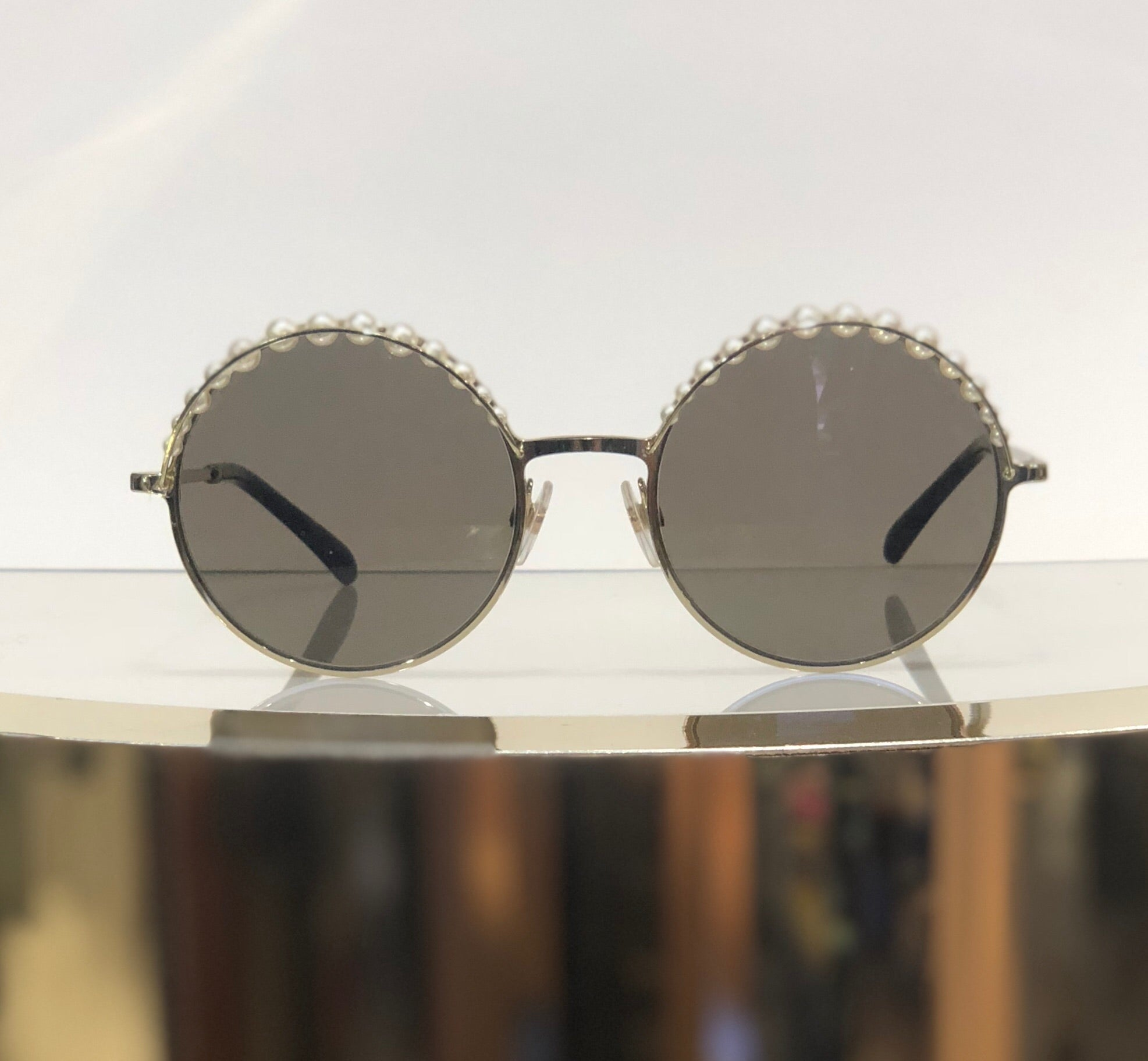 Chanel Pearl Embellished Sunglasses