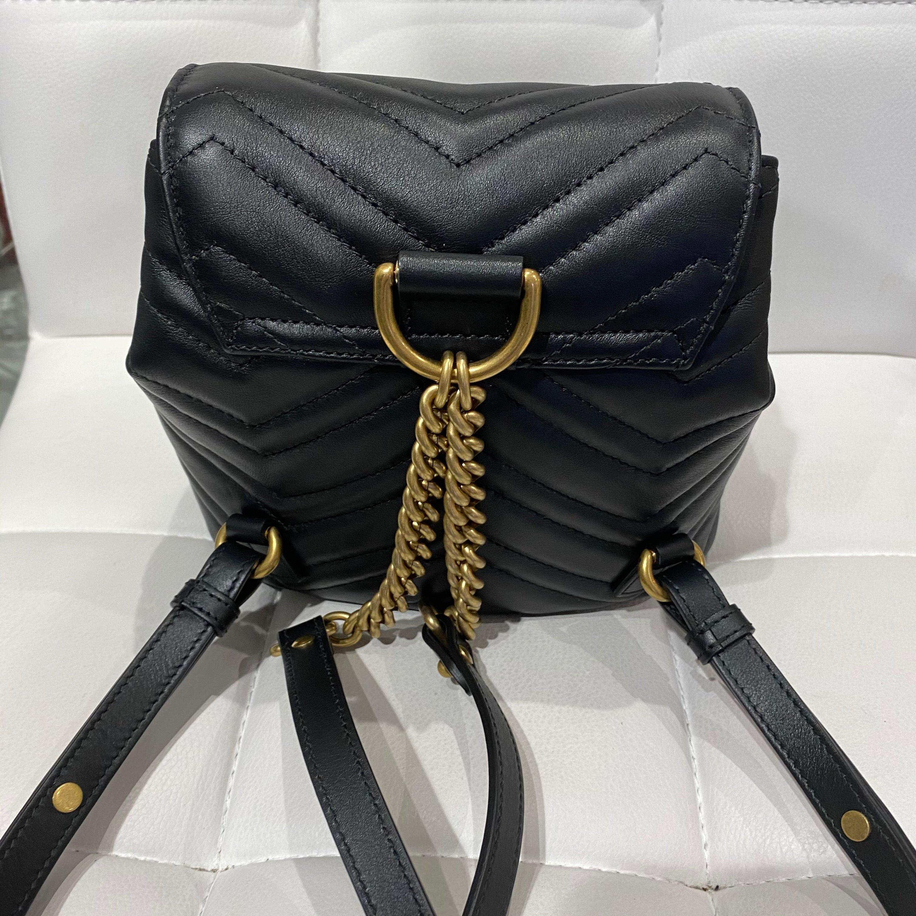 Gucci Black Mini GG Marmont Backpack