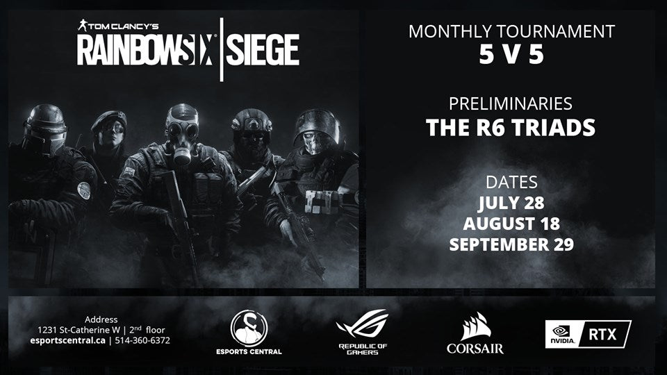 main banner Rainbow six siege monthly tournament