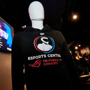 Esports Central Hoodie front view logo gaming apparel comfort