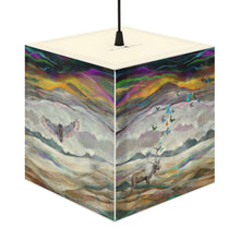 Alaskan Panorama Cube Lamp, Caribou, Butterfly, and Owl Lamp