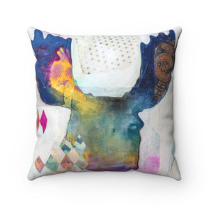 Moose Silhouette, Square Throw Pillow