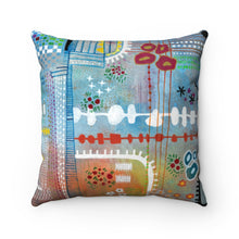 Plants and Motherboards, Faux Suede Throw Pillow