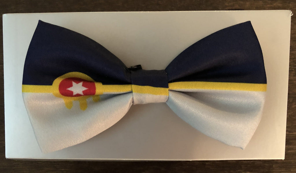 Tulsa Flag Handmade Bespoke Bowtie Dad's Day pick - Boomtown Tees
