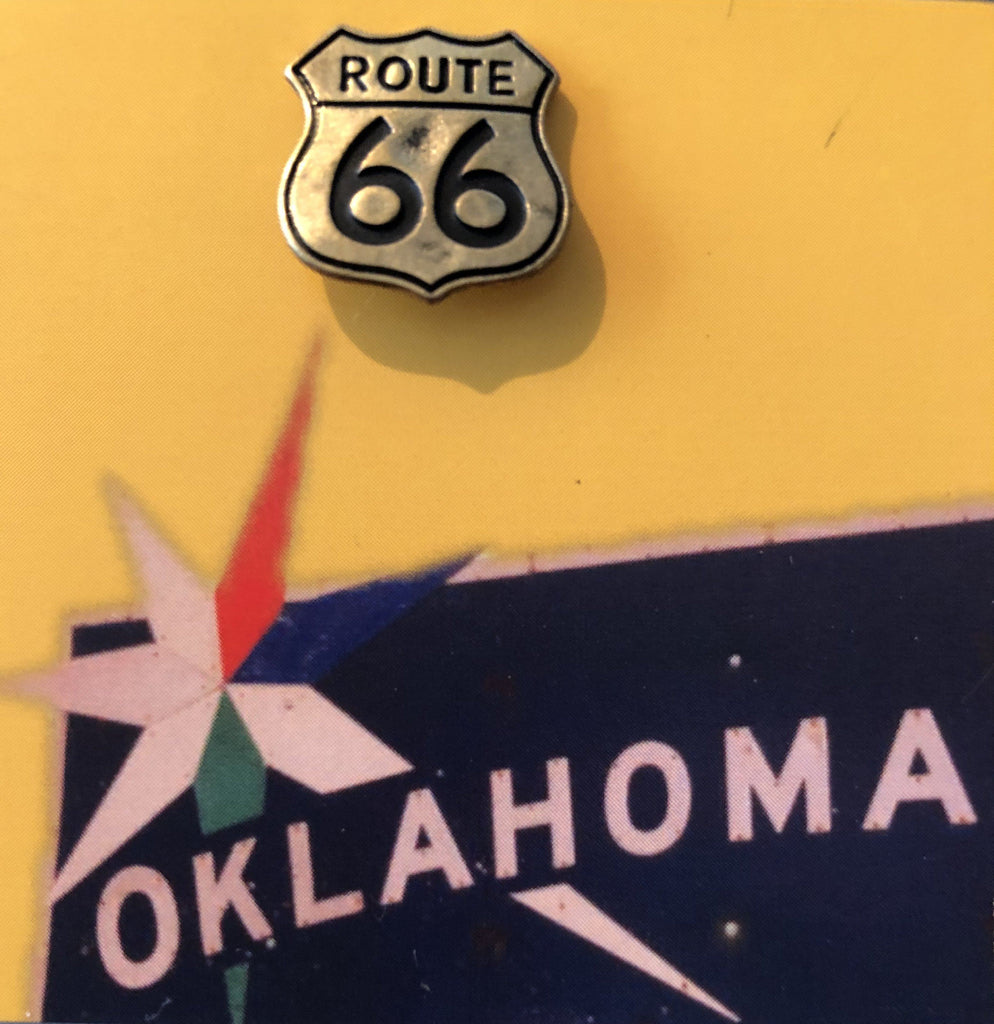Route 66 Oklahoma's Mother Road Hat or Lapel Pin Souvenir - Boomtown Tees