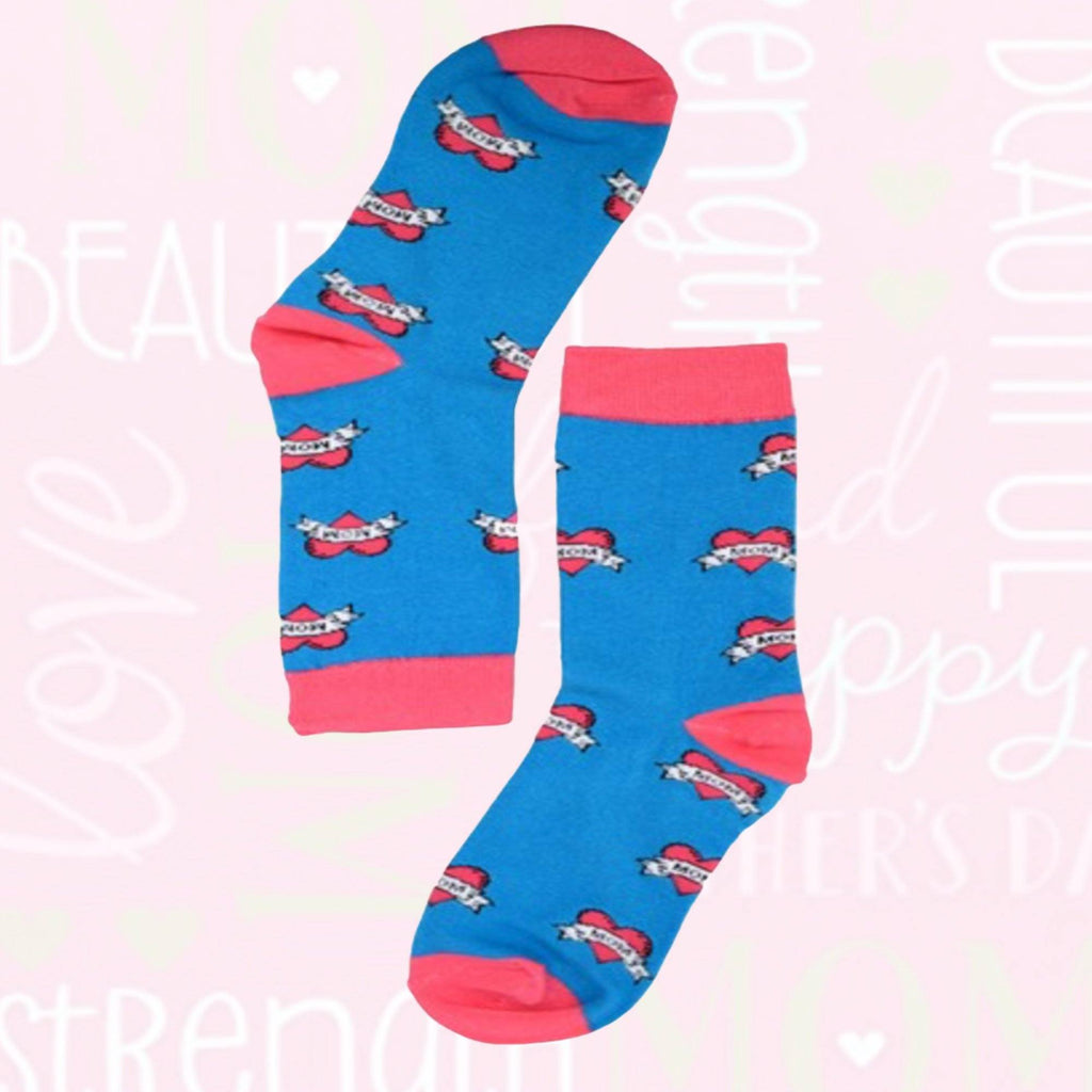 I heart Mom Love Socks - Boomtown Tees