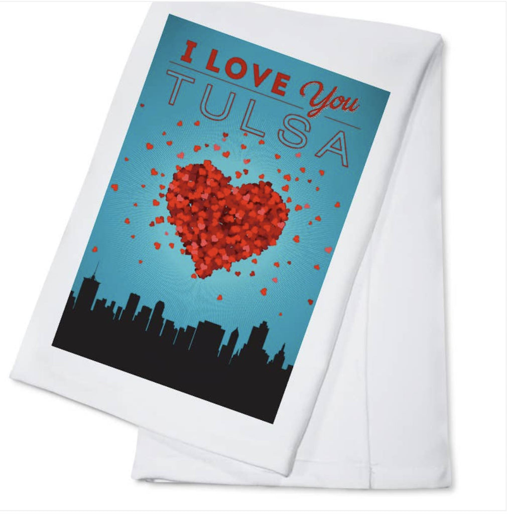 I love You Tulsa Kitchen Tea Towel Home Collection - Boomtown Tees