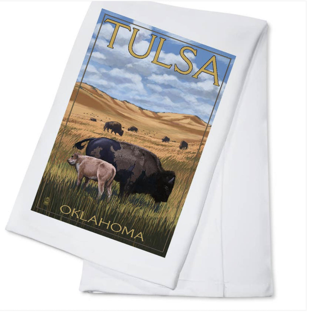 Tulsa Oklahoma Country Kitchen Tea Towel Home Collection - Boomtown Tees