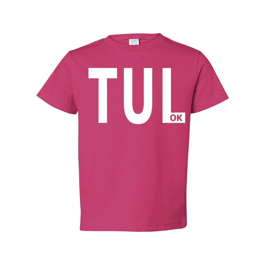 TUL OK Toddler short sleeve t-shirt Tulsa Oklahoma - Boomtown Tees