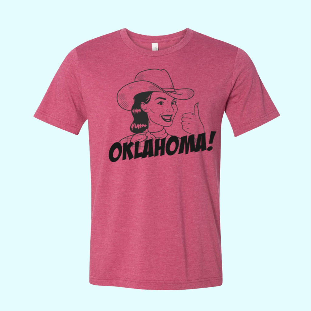 Oklahoma Cowgirl Up Local Tee T-shirt Tee Featured $12.00 - Boomtown Tees