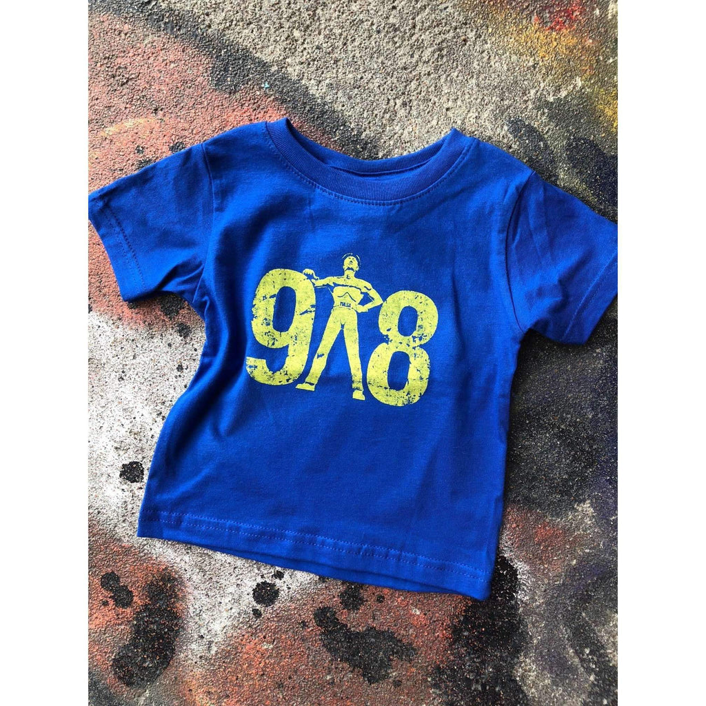 918 Tulsa Area Code Featuring the Golden Driller Infant to Youth XL - Boomtown Tees