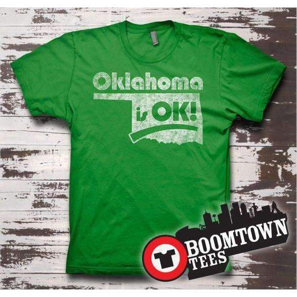 Oklahoma is OK!  Souvenir T-shirt Tee - Boomtown Tees