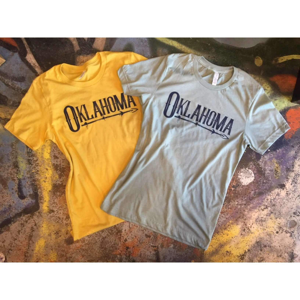 Oklahoma Native Arrow  Script T-shirt Tee - Boomtown Tees