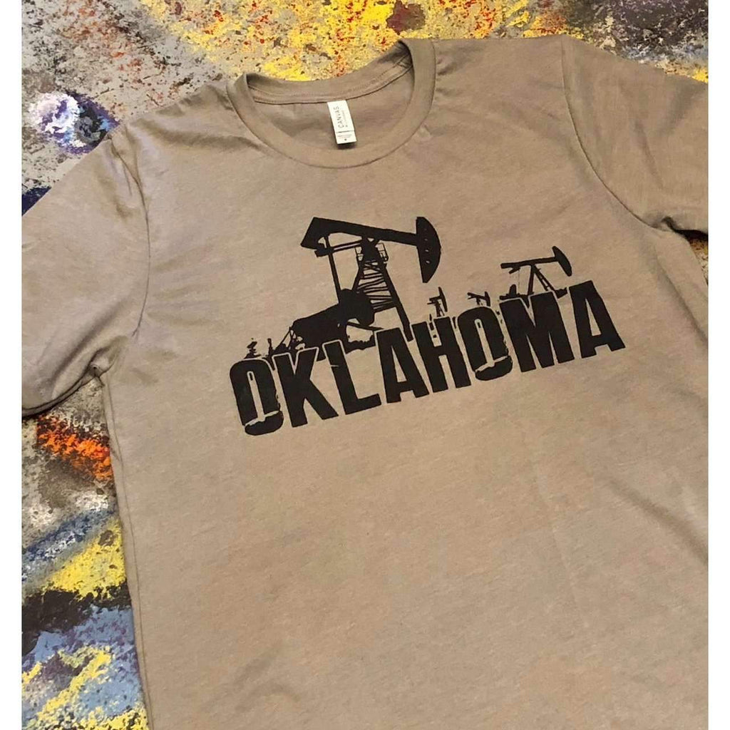 Oklahoma Oil Rig Tee T-shirt Roughneck Tee - Boomtown Tees