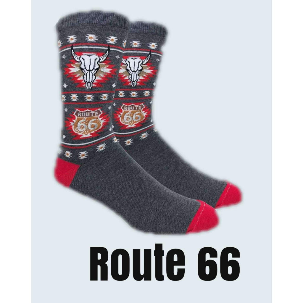 Oklahoma Route 66 Novelty socks - Boomtown Tees