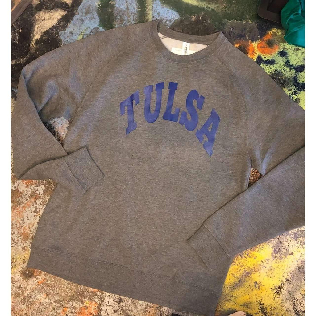 Featured Tulsa arched fleece blend sweatshirt - Boomtown Tees
