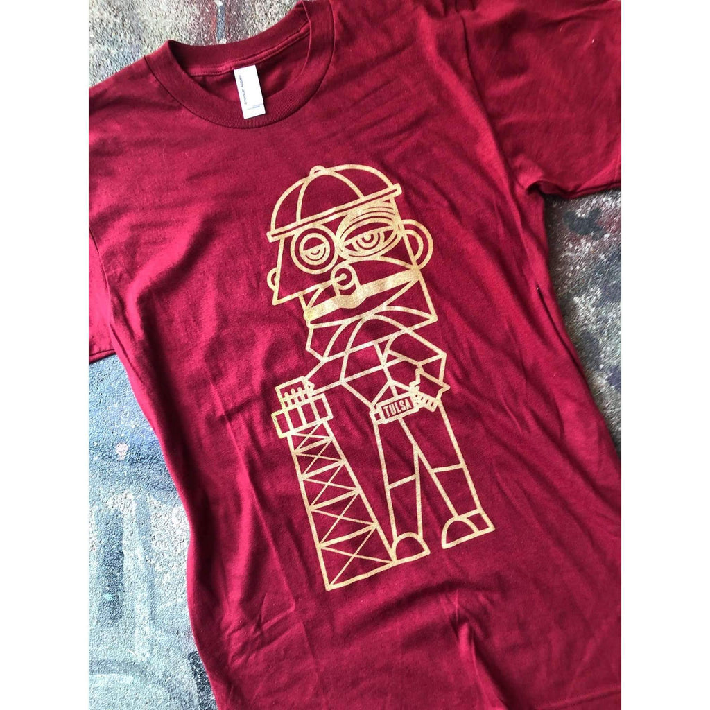 Tulsa Golden Driller John Hammer Collection T-shirt - Boomtown Tees