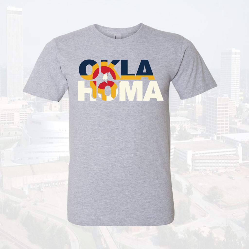 Tulsa Flag Intertwined Oklahoma Style Unisex T-shirt Tee - Boomtown Tees