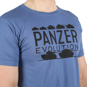 Panzer Evolution Faded Denim T-Shirt WWII Nation